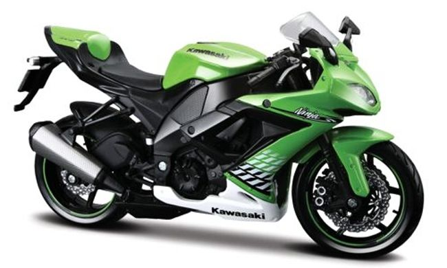 Motorka Kawasaki Ninja ZX-10R (2010) Green, Maisto 1:12