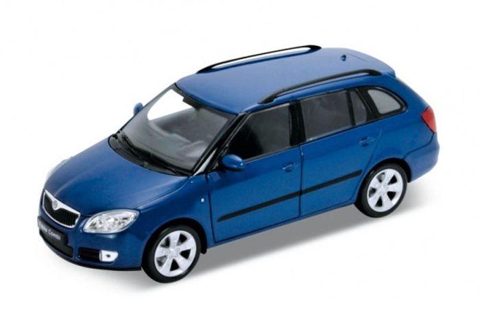 Welly Škoda Fabia Combi Modrá (2009) 1:24
