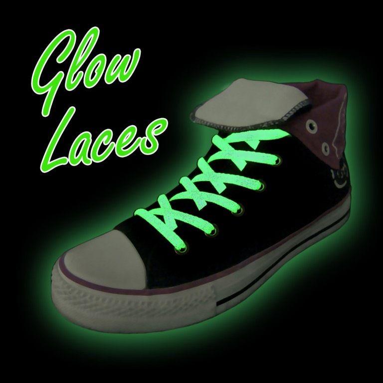 Svítící tkaničky, Zelené