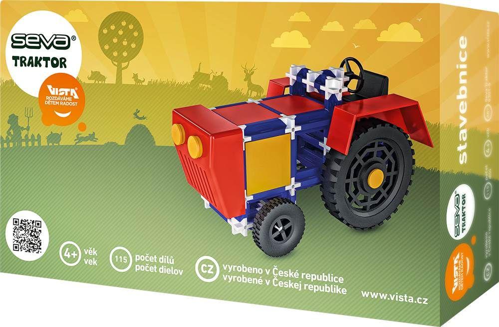 Stavebnice Seva Traktor, 115 dílků