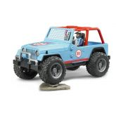 Bruder 2541 Jeep Cross Country s figurkou modrý