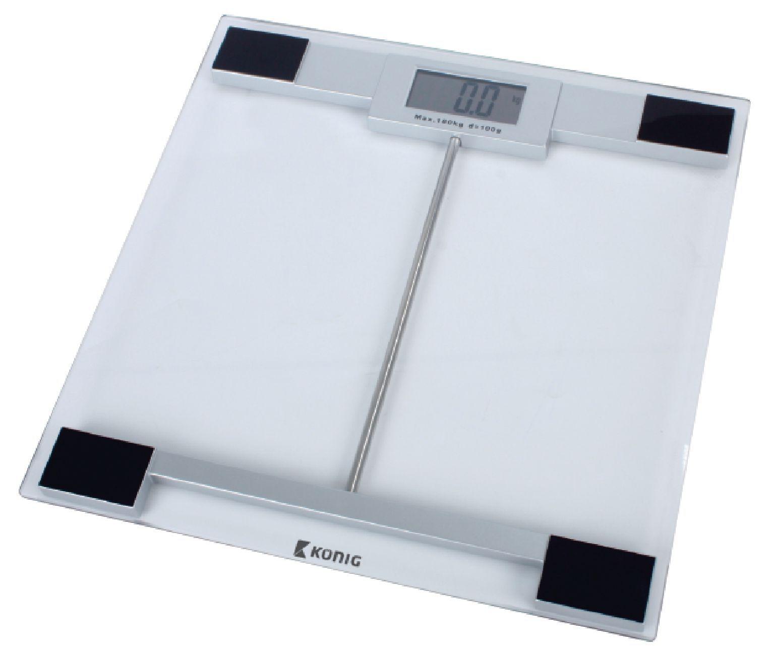 Digitální skleněná osobní váha König 180 kg