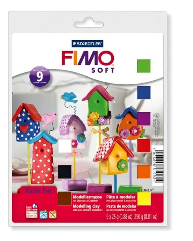 FIMO soft sada - základní 9 x 25g