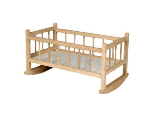 Dřevěná kolébka pro panenky, Přírodní