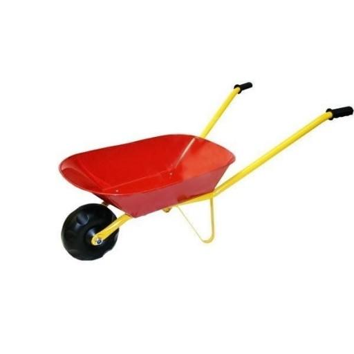 Dětské plechové kolečko 75x30x40cm, Červené