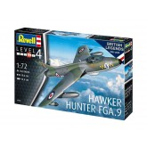 Revell ModelKit letadlo, 100 Years RAF Hawker Hunter FGA.9 (1:72)
