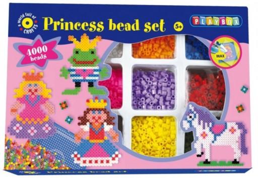 Playbox zažehlovací korálky Princezny a koně, 4000ks