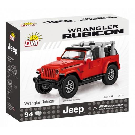 Cobi 24114 Jeep Wrangler Rubicon 4x4, červený 1:35, 94 kostek
