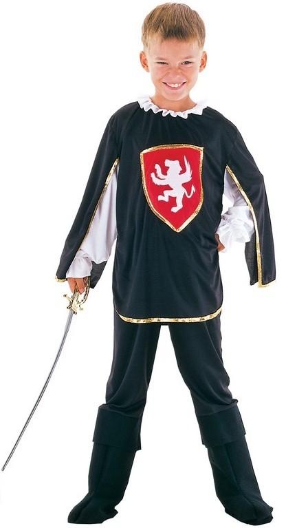 Dětský kostým na karneval Mušketýr, 110-120 cm