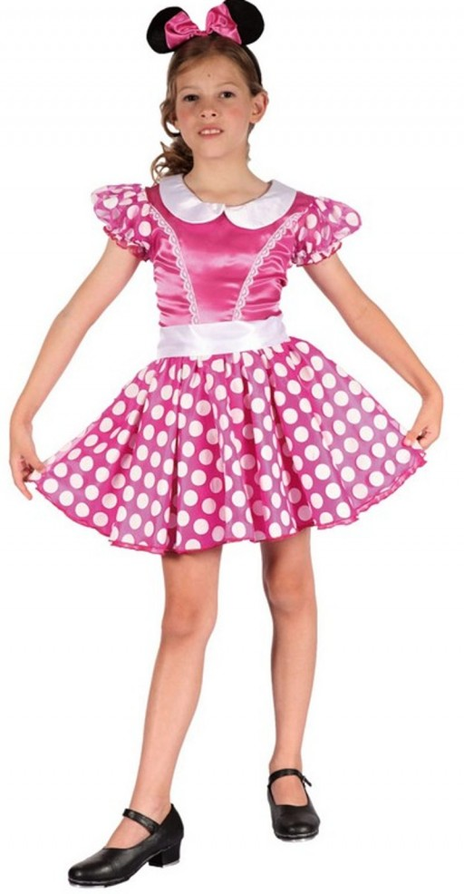 Dětský kostým na karneval Růžová Myška, 110-120 cm