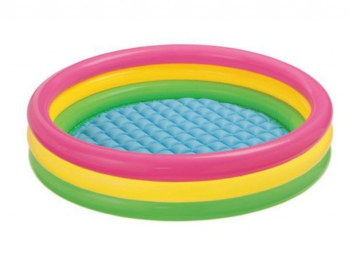 INTEX Kulatý dětský bazén Soft Dno 147x33 cm