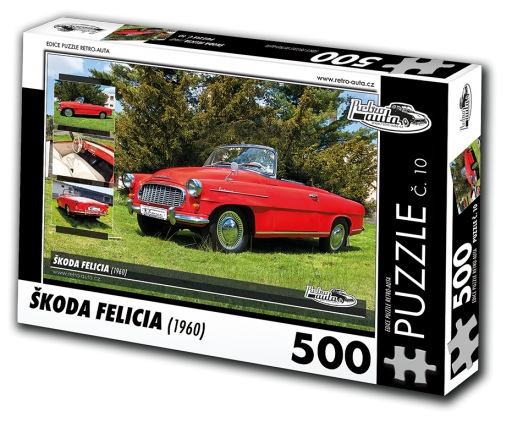 Puzzle č. 10, Škoda Felicia (1960) 500 dílků