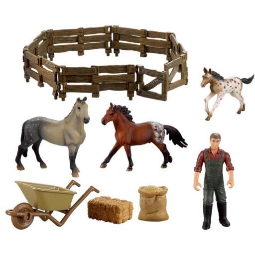 Buddy Toys Farma, koně a ohrada