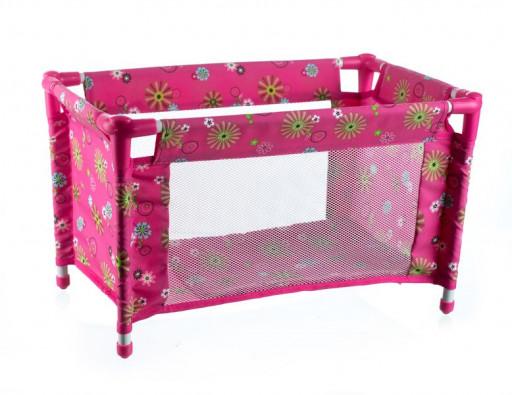 Teddies Postýlka pro panenky, Růžová 53x32x32cm