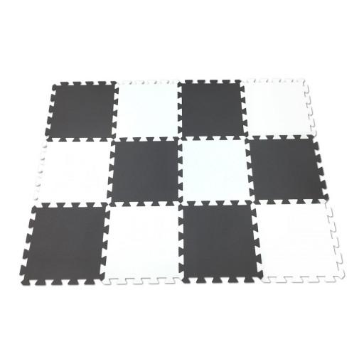 Pěnový koberec MAXI EVA 12, bílo-černý