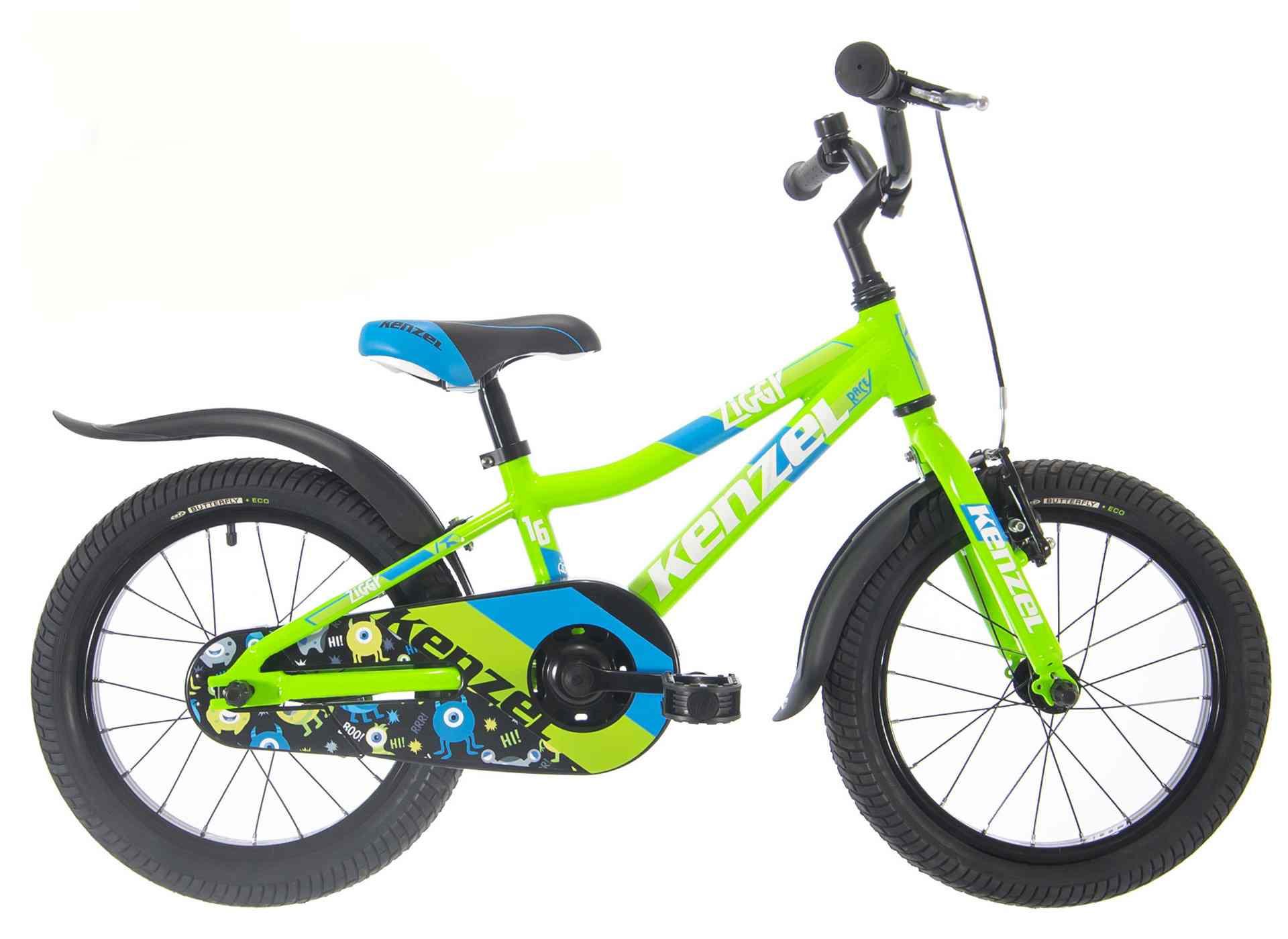 Kenzel Dětské jízdní kolo Ziggy RF16 1spd 2021 limetka