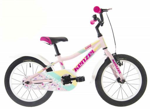 Kenzel Dětské jízdní kolo Ziggy RF16 1spd 2021 růžové