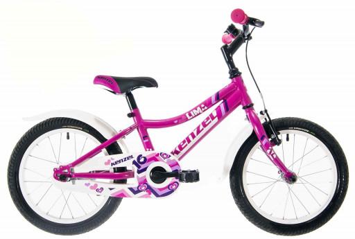 Kenzel Dětské jízdní kolo Lima RF16 1spd 2021 růžové