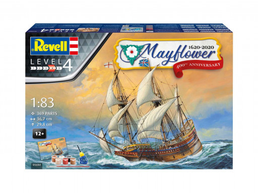 Revell Gift-Set loď 05684 Mayflower 400th Anniversary (1:83)