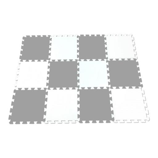 Pěnový koberec MAXI EVA 12, bílo-šedý