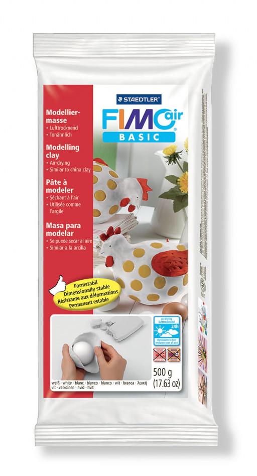 Staedtler Fimo Basic Air bílá 500 g