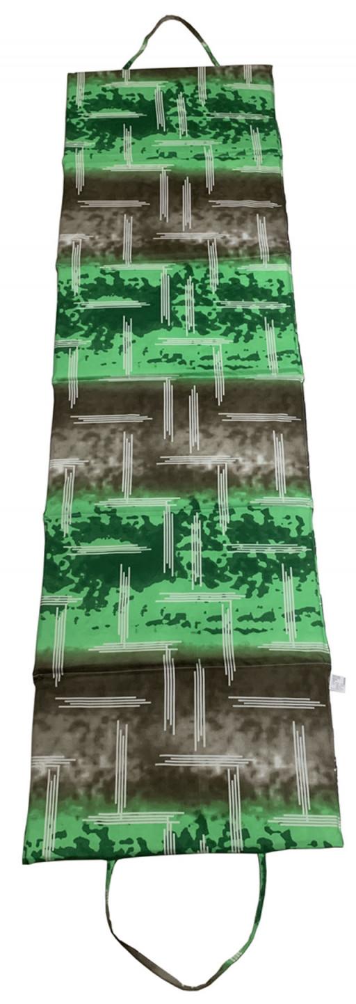Skládací plážové lehátko L01, zelené, 195x55x1,5 cm