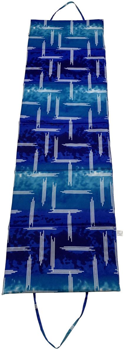 Skládací plážové lehátko L01, modré, 195x55x1,5 cm