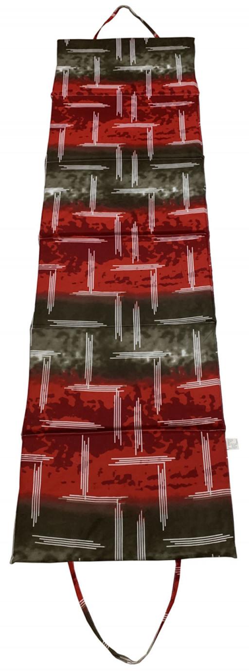 Skládací plážové lehátko L01, červené, 195x55x1,5 cm