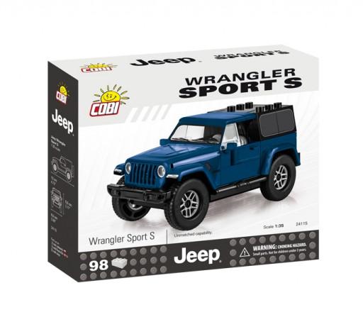Cobi 24115 Jeep Wrangler Sport S, modrý 1:35, 98 kostek