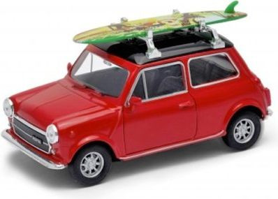 Welly Mini Cooper 1300 with Surf, Red 1:34-39