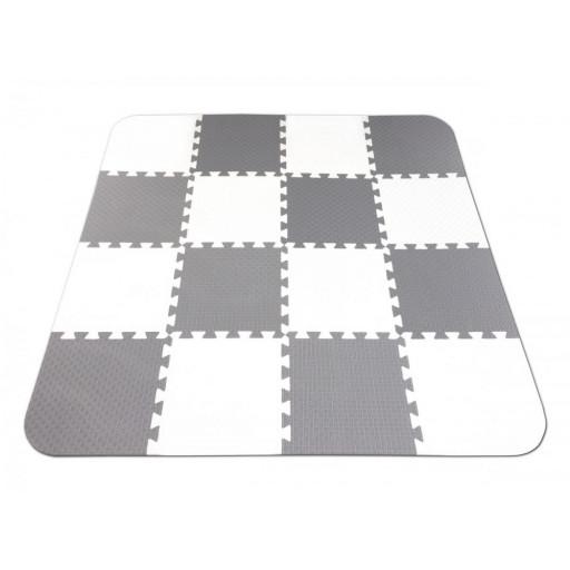 Pěnový koberec MAXI EVA Optimal, bílo-šedý