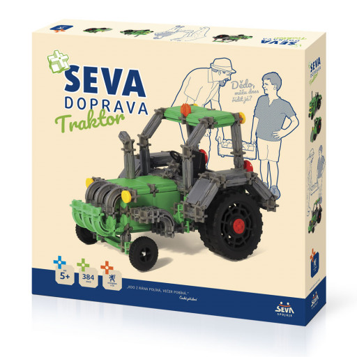 Stavebnice Seva Doprava Traktor 384 dílků