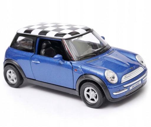 Welly Mini Cooper (chess-board blue) 1:34-39