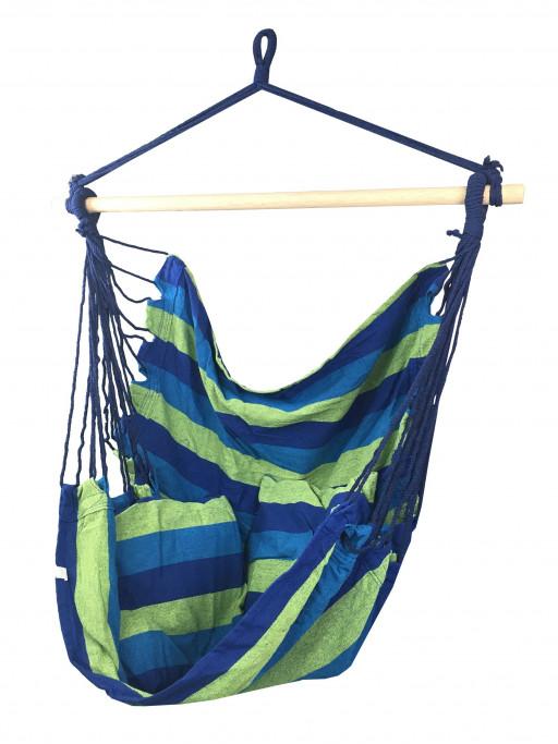 Sedco Závěsné houpací křeslo Swing, Modré pruhy, 100 kg