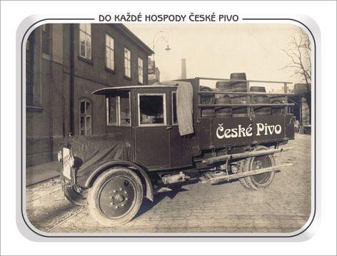 Plechová pivovarská cedule České Pivo 420 x 297 mm