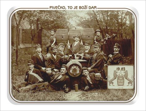Plechová pivovarská cedule Pivečko 420 x 297 mm