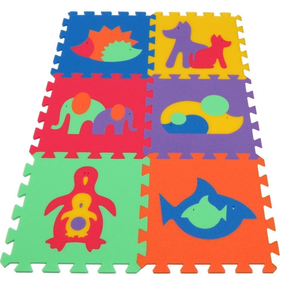 Malý Genius Pěnový koberec MAXI 6 Zvířata 2, mix 6 barev